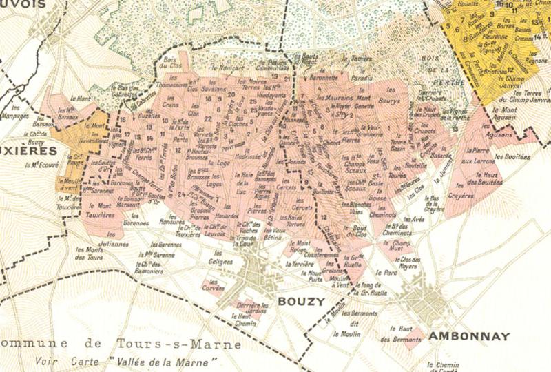 Les vins de Champagne - Carte Montagne de Reims / Champagne Vilmart