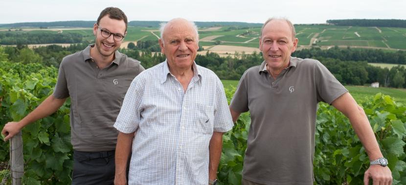 Aurélien, Pierre et Pascal Gerbais / Champagne Pierre Gerbais